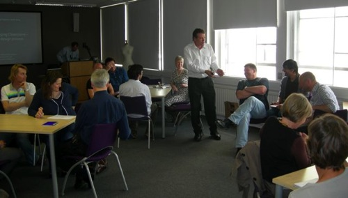 Peter Jamieson encourages the delegates to join a group.jpg