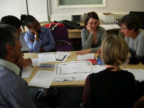 Group 1 work on a metaphor for a sample room.jpg